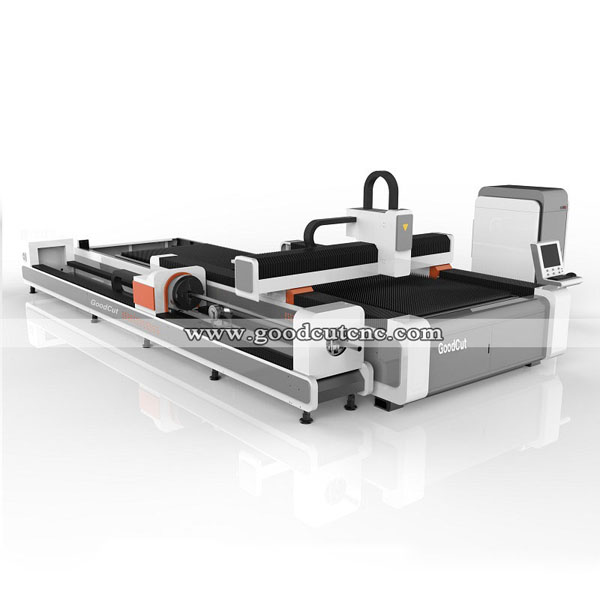 Fiber Laser Cutting Machine with Rotary for Metal Round and Square Pipe Tube Cutting