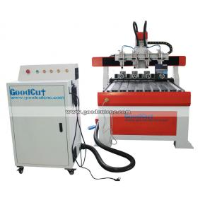 GC6090 4 axis 4 Spindle 4 Rotary Axis Cnc Router Machine For Wood and Legs